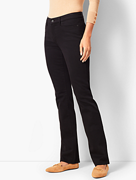 High-Rise Barely Boot Jeans - Never Fade Black