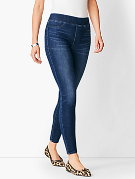 Sculpt Pull-On Denim Jegging - Oleander Wash