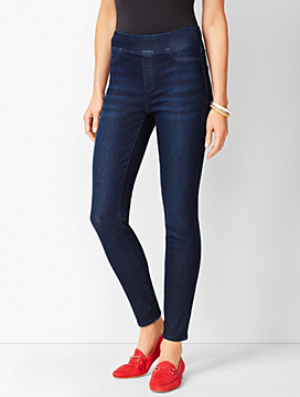 Sculpt Pull-On Denim Jegging - Empire Wash