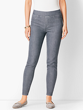 Sculpt Pull-On Denim Jegging - Dark Earl Grey