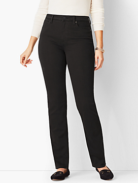 High-Rise Straight-Leg Jean - Curvy Fit/Never Fade Black