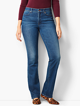 High-Rise Barely Boot Jeans - Curvy Fit/Nestor Wash