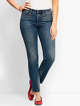 Denim Slim Ankle Jean - Curvy Fit/Baxter Wash