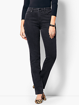 High-Rise Straight-Leg Jean - Curvy Fit/Galaxy Wash