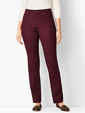 High-Rise Straight-Leg Jean - Curvy Fit/Merlot