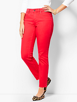 Garment-Dyed Slim Ankle Jean - Curvy Fit/Bright Apple