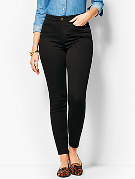 Comfort Stretch Denim Jeggings - Curvy Fit/Black