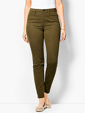 Comfort Stretch Denim Jeggings - Curvy Fit/Bay Leaf