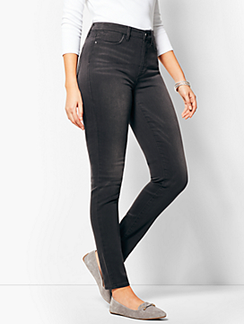 Comfort Stretch Denim Jeggings - Curvy Fit/Steel Grey