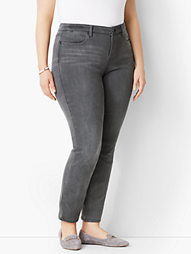 Plus Size Exclusive Slim Ankle Jeans - Luna Grey