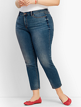Plus Size Exclusive Slim Ankle Jeans - Baxter Wash