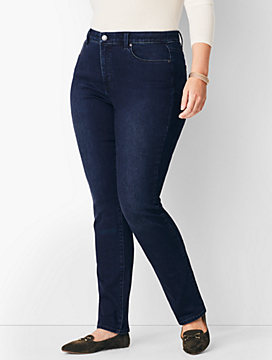 Plus Size Comfort Stretch High-Rise Straight-Leg Jeans - Marco Wash