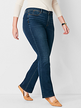 Plus Size Comfort Stretch High-Waist Barely Boot Jeans - Pioneer Wash