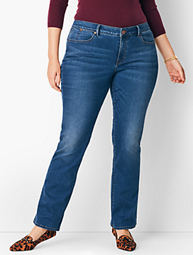 Plus Size Comfort Stretch High-Rise Barely Boot Jeans - Nestor Wash