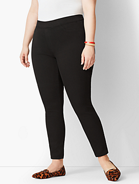 Plus Size Exclusive Comfort Stretch Pull-On Denim Jeggings - Black