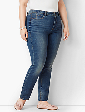 Plus Size Exclusive High-Rise Straight-Leg Jean - Baxter Wash