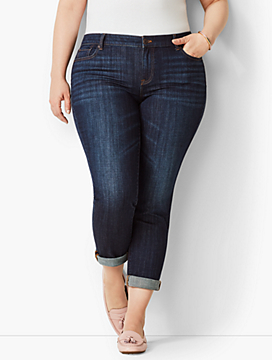 Plus Size Exclusive Girlfriend Jean - Leeward Wash