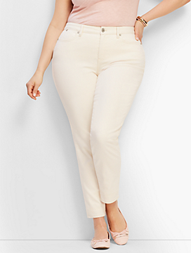 Plus Size Exclusive Slim Ankle Jeans - Vanilla/Curvy Fit