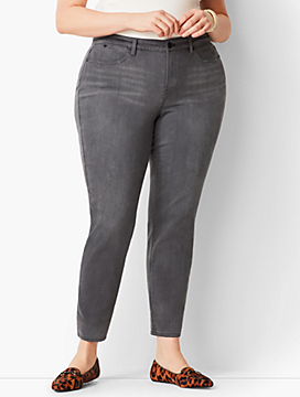 Plus Size Exclusive Slim Ankle Jeans - Curvy Fit/Luna Grey