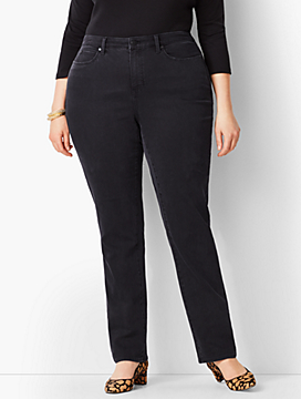 Plus Size Exclusive High-Rise Straight-Leg Jeans - Curvy Fit/Galaxy Wash