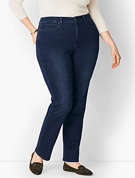 Plus Size Comfort Stretch High-Rise Straight-Leg Jeans - Curvy Fit/Marco Wash