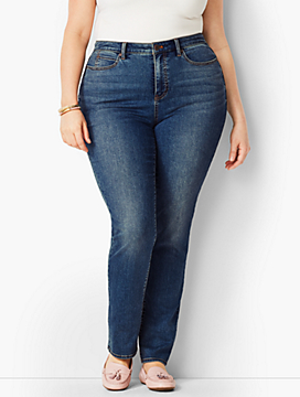 Plus Size Exclusive High-Rise Straight-Leg Jean - Curvy Fit/Baxter Wash