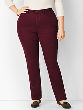 Plus Size Comfort Stretch High-Rise Straight-Leg Jeans - Curvy Fit/Merlot