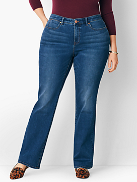 Plus Size Comfort Stretch High-Rise Barely Boot Jeans - Curvy Fit/Nestor Wash