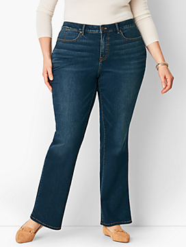 Plus Size High-Rise Barely Boot Jean - Pioneer Wash/Curvy Fit