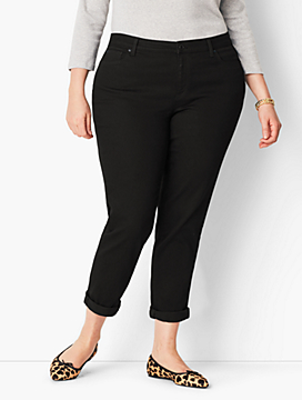 Plus Size Girlfriend Jean - Curvy Fit/Black