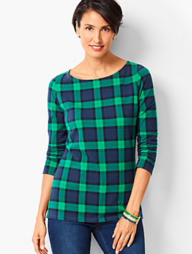 Holiday Plaid Cotton Top