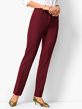 High-Waist Straight-Leg Pants