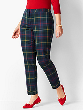 Talbots Hampshire Plaid Ankle Pants