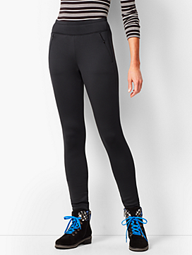 Fleece-Lined Pull-On Leggings
