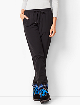 Fleece Cuff Straight Leg Pants