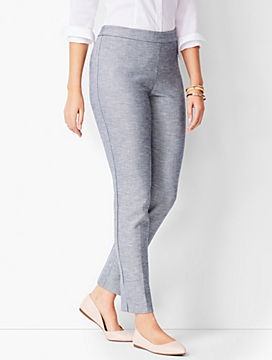 Talbots Chatham Ankle Pants - Sharkskin - Curvy Fit