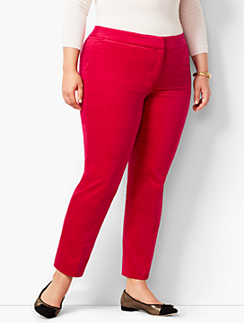 Plus Size Talbots Hampshire Velveteen Ankle Pants