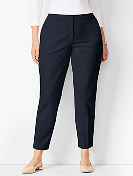 Talbots Hampshire Bi-Stretch Ankle Pants - Curvy Fit