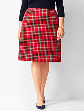 Tartan Plaid A-Line Skirt