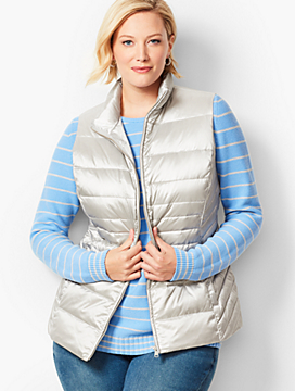 Down Puffer Vest - Metallic