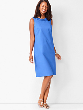 Cotton Sateen Shift Dress
