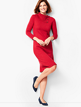 Donegal Cowlneck Sweater Dress
