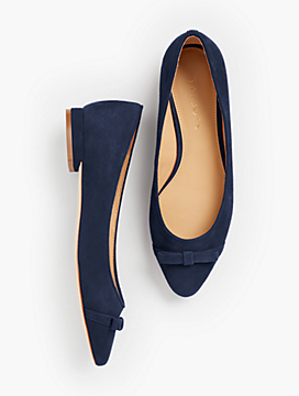 Edison Bow-Detail Flats - Solid