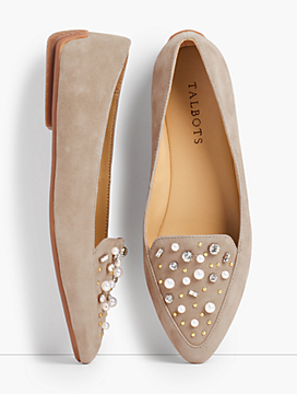 Francesca Driving Moccasins - Jeweled