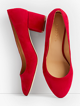 Isa Block-Heel Pumps - Solid