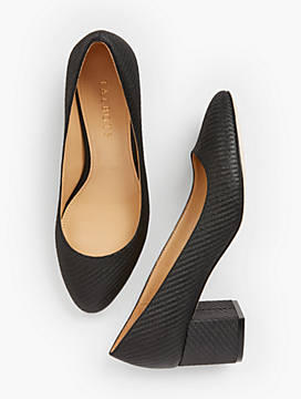 Isa Block-Heel Pumps - Lurex®