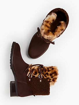 Tish Shearling-Lined Ankle Boots