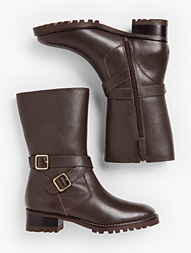 Tish Mid-Calf Leather Boots