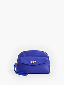 Zip-Top Wristlet - Pebbled Leather