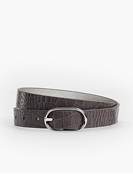 Reversible Belt - Saffiano Leather/Metallic